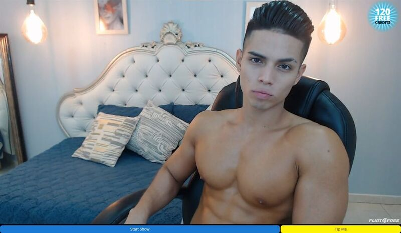 Gorgeous latino model on Flirt4Free