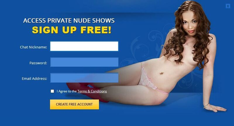 Flirt4Free's simple, user friendly signup form