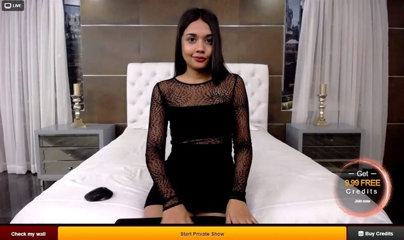 LiveJasmin adorable cam girl smirking at the camera