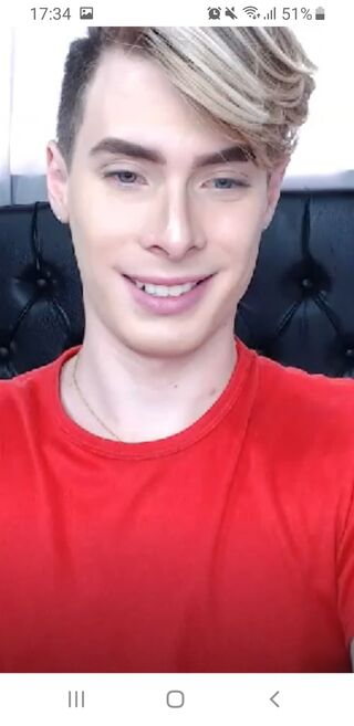 Cute blonde twink on LiveJasmin
